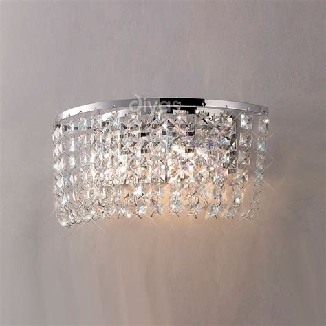 diyas il cosmos  light chromecrystal wall light