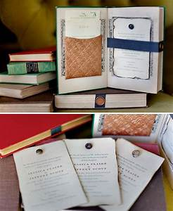 vintage books as wedding invitations green wedding shoes With pocket book wedding invitations