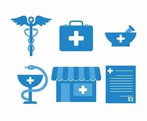 Blue Pharmacy Icon Set Vectors Vector Art & Graphics ...