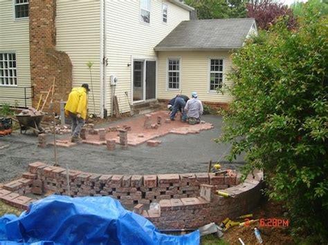 brick patio pavers washington dc area drainage and