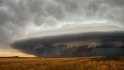Storm Clouds Supercell Wallpapers Nebraska Field Widescreen