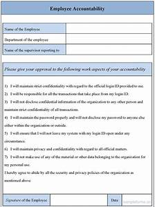 Employee Accountability Form  Sample Forms