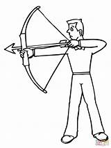Coloring Archer Archery Pages Shooting Shoot Sniper Target Rifle Drawing Medieval Ready Printable Drawings Paper Through Clipart sketch template