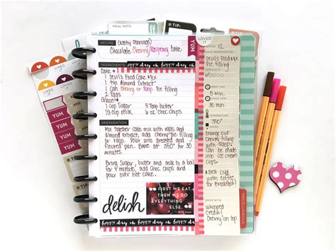 Filling Up The Happy Planner™ Recipe Organizer — Me & My