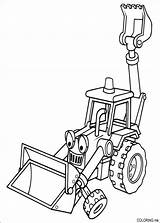 Coloring Pages Builder Bob Backhoe Excavator Tractor sketch template