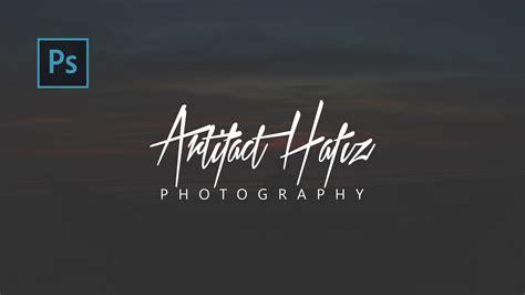 signature photography logo making easy  photoshop