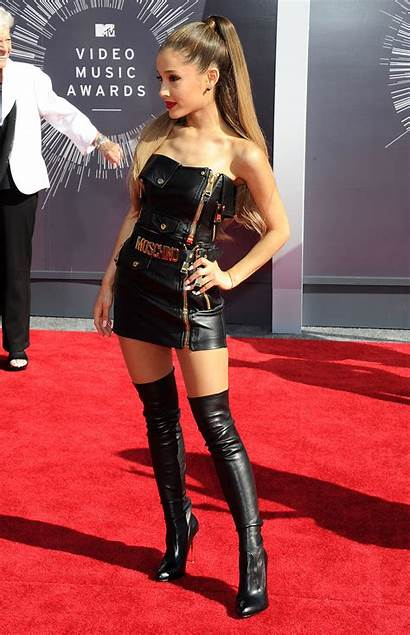 Ariana Grande Outfits Boots Leather Megapost Bottes