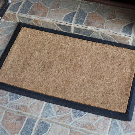Brown Rubber Door Mat by Doormat 45x75cm Door Mat Rubber Coir Brown Heavy Duty