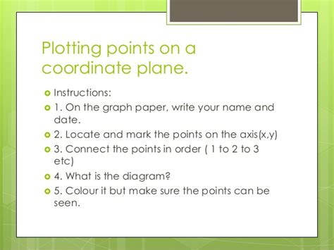 Plotting Points On A Coordinate Plane