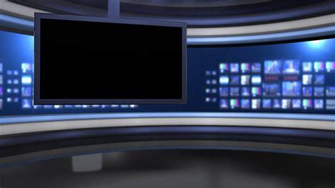 templates vegas telejornal viewing monitor on virtual set stock video footage