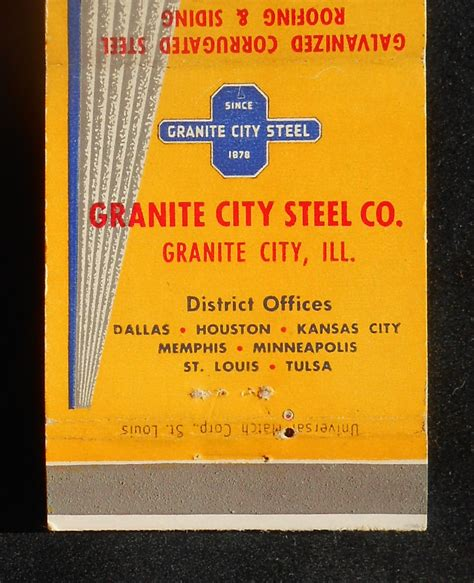 1950s matchbook strongbarn roofing siding granite city