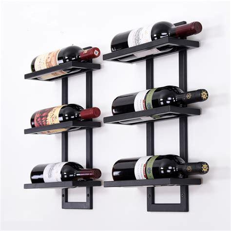 modern iron wall mounted wine holder simple hanging