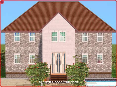 symmetrical houses symmetrical brick style house on 2x2 lot the sims fan page