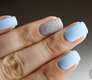 Top 50 ideas of light blue nail designes