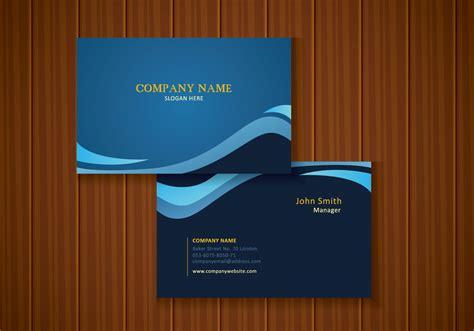stylish blue business card design