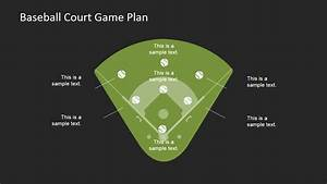 Baseball Court Game Plan Powerpoint Template