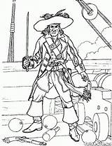Pirate Coloring Battle Pages Pirates Colorkid sketch template