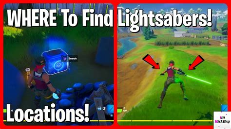 find lightsabers  fortnite locations