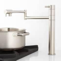 pot filler kitchen faucet maddox deck mount retractable pot filler faucet pot fillers kitchen faucets kitchen