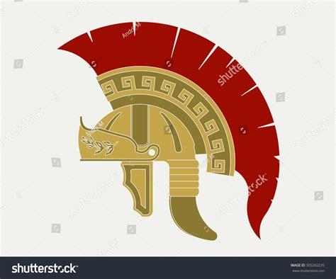 Gladiator Helmet Logo, Ancient Roman Legionnaire Emblem