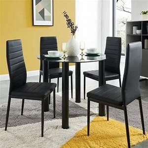 Table A Manger 4 Personne : berenice ensemble table manger ronde en verre 4 ~ Teatrodelosmanantiales.com Idées de Décoration