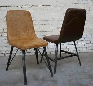 Chaise Industrielle Cuir : chaise industrielle cuir ~ Teatrodelosmanantiales.com Idées de Décoration