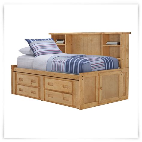 daybed with bookshelf city furniture cinnamon mid tone storage bookcase daybed