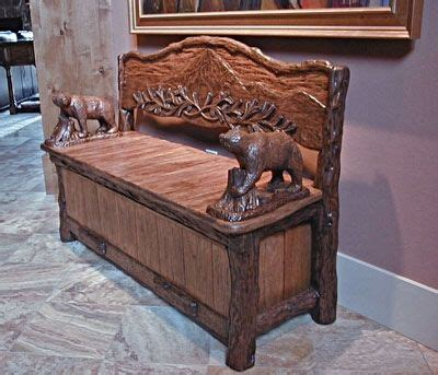 rustic storage bench crafted timberline rustic storage bench by of