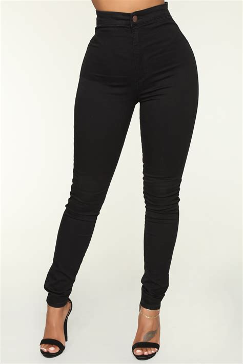 Luxe Ultra High Waist Skinny Jeans Black