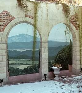 Mur Trompe L Oeil : photo un trompe l 39 oeil mural ext rieur sur le mur d 39 une cour ~ Melissatoandfro.com Idées de Décoration