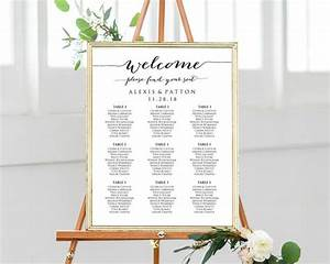 Welcome Please Find Your Seat Wedding Seating Chart Templates