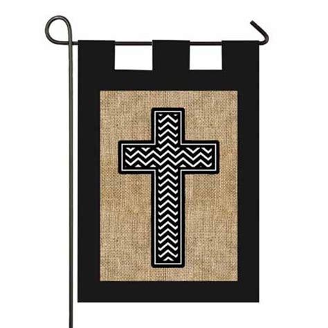 Christian Garden Flags by Cross Burlap Garden Flag Religious Inspirational