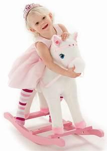 Jouet A Bascule Exterieur : cheval bascule blanc rose princesse jouet knorrtoys moins cher ~ Teatrodelosmanantiales.com Idées de Décoration