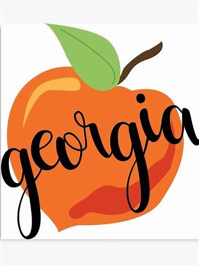 Georgia Peach Clipart Peaches Gonewild Webstockreview Canvas