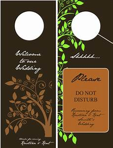 door hangers for the hotel rooms at our wedding With door hanger template indesign