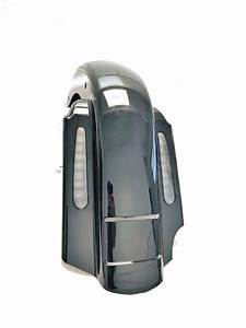 Mutazu 2 In 1 Cvo 4 U0026quot  Extended Rear Fender With Led  U0026 Wire