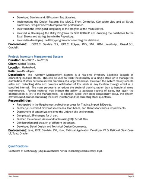 Resume Creation Using Html by Pega Sle Resume Pega Cssa Resumes