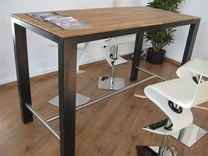 Table Haute En Bois : table haute industrielle bois ~ Dailycaller-alerts.com Idées de Décoration