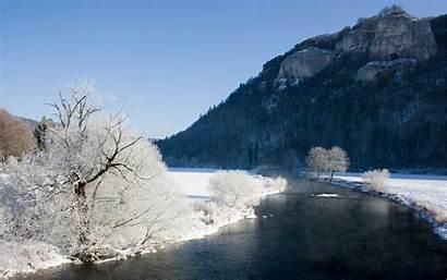 Winter Season Background Rivers Wallpapers Nature Desktop