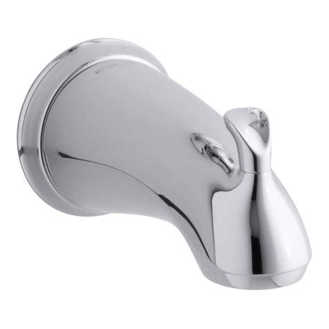 kohler forte sculpted diverter bath spout in polished