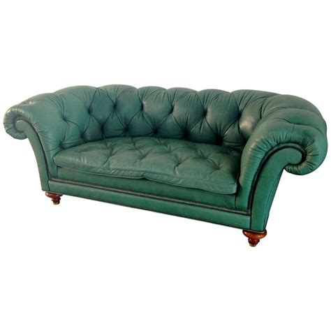 green sofas for sale english green vintage leather chesterfied sofa for sale at