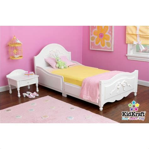 kidkraft tiffany bedroom princess toddler bed furniture