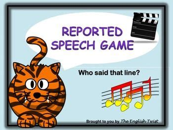 reported speech  prep grammar game  images