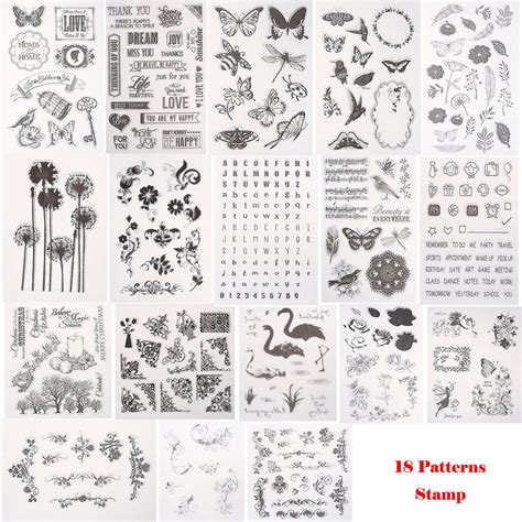 silicone clear rubber stamps scrapbooking album card