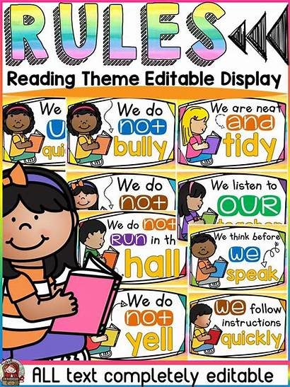Rules Classroom Reading Class Themes Teaching Teacherspayteachers
