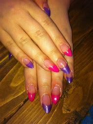 Pink Acrylic Stiletto Nails