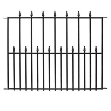 home depot fence sections 36 in x 30 in empire steel 3 rail fence panel 061115
