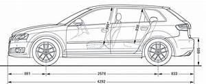 Longueur Audi A3 : 1 4 dimensions audi a3 sportback 2009 ~ Medecine-chirurgie-esthetiques.com Avis de Voitures