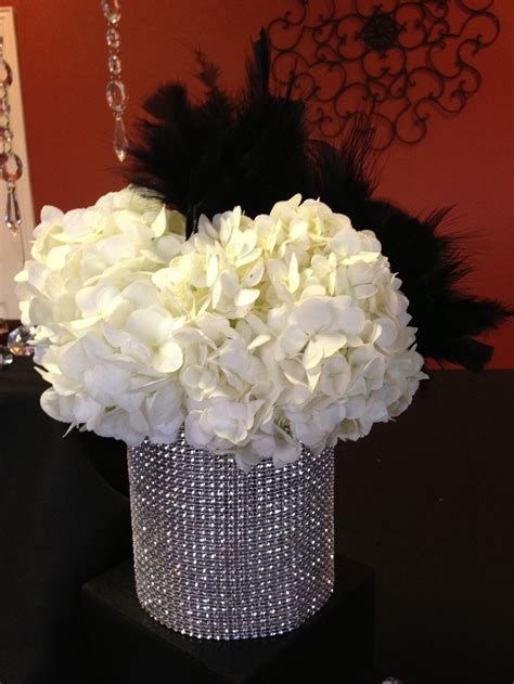 diamonds  pearls themed party black white  silver