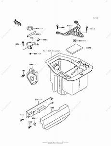 Kawasaki Atv 1995 Oem Parts Diagram For Battery Case